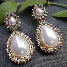 Pearl Stone Drop Earring