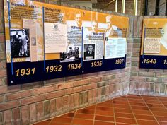 At Ford's Presidential Library in Ann Arbor there's an informative timeline tracing his life.