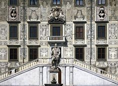 Piazza dei Cavalieri, Pisa Architecture Drawings, Art And Architecture, Giorgio Vasari, Toscana, Pisa, Building A House, Outlines, Louvre, Europe