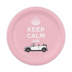 #Keep Calm Convertible Your Color Background Paper Plate - #keepcalm