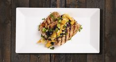 delicious Jerk Honey Salmon served with Mango Pineapple Salsa ...
