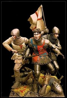 """""""Cry God, for Harry, England and Saint George"""" - Battle Of Agincourt  Miniature Figure Vignette by MIKE BLANK. On display at the 2017 Atlanta Show. Atlanta, Georgia USA - February 18, 2017.  photos by Alexander Wence De Leon"""