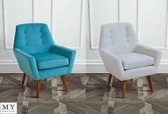 My-Furniture  Retro upholstered armchair - VIVIENNE