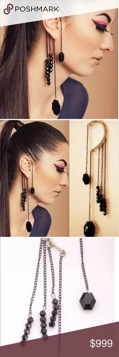 Preview! Fall Trend - Punk Beaded Cuff Earrings Preview! Fall Trend - Punk Beaded Cuff Earrings • Black beads + gunmetal silver • Stunning statement earrings • Fall 2017 • Coming Soon! Like this listing to group notified upon arrival Alexis Bittar Jewelry Earrings