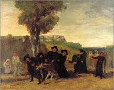 Gustave Courbet - Die Rückkehr von der Konferenz (Le retour de la conférence). 1863.