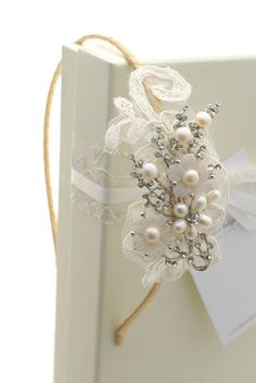Lace bridal side tiara