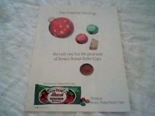 Vintage 1989 Hershey Foods Reese's Peanut candy Merle Norman magazine print ad