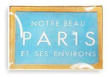 Ben's Garden Vintage Paris Ticket Glass Tray
