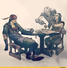 fionastaples,Фенрис,DA персонажи,Dragon Age,фэндомы,Йорвет,Witcher Персонажи,The Witcher,Ведьмак, Witcher, ,Яевин,crossover,Алот,pillars of eternity,Игры