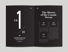 editorial layout CosmosRevisited and Redesigned by Flora Chan, via Behance Editorial Design Layouts, Magazine Layout Design, Layout Design Inspiration, Book Design Layout, Print Layout, Graphic Design Books, Design Posters, Design Brochure, Booklet Design