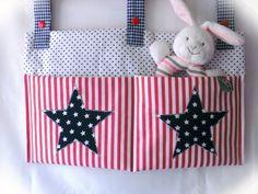 Großes Bettutensilo für Fläschen, Spielsachen von Kleines Nähstübchen von FAIRY-LOU auf DaWanda.com