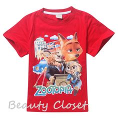 >> Click to Buy << Kids Boys And Girl Clothes 2016 Summer Style Cartoon Zootopia T Shirt Tee Children Clothes #Affiliate