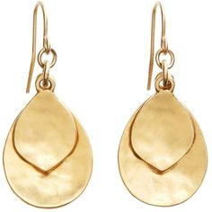 Brooks Brothers Gold Hammered Drop Earrings ($35) ❤ liked on Polyvore featuring jewelry, earrings, accessories, brincos, gold, brooks brothers jewelry, earrings jewelry, yellow gold jewelry, drop earrings and brooks brothers