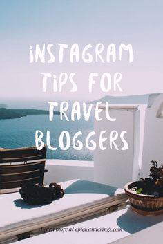 Instagram tips for travel bloggers