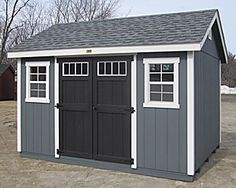 Kloter Farms - Sheds, Gazebos, Garages, Swingsets, Dining, Living, Bedroom Furniture CT, MA, RI: In-Stock Sheds: 10' x 12' T-1-11 Garden Special Cape