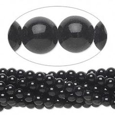 Bead, black obsidian (natural), 4mm round, C grade, Mohs hardness 5 to 5-1/2. Sold per pkg of (10) 16-inch strands.