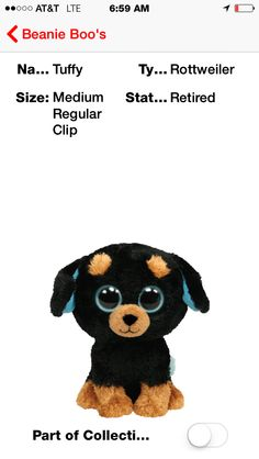 Ty beanie boos Comes in all different sizes and animals 0a3d68f57d0c