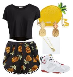"""pinapples yo!"" by kamaria-diani ❤ liked on Polyvore"