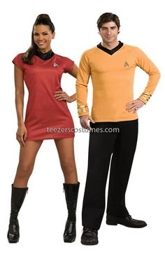 Couples Costumes #CouplesCostumes Adult Halloween Costumes #Halloweencostumescouples Star Trek Couples Costumes available  sc 1 st  Pinterest & Star Trek Couples Costume available at Teezerscostumes.com | Couples ...