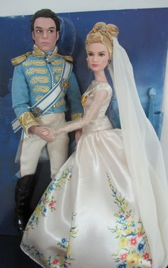 """Prince """"Kit"""" Charming (Richard Madden) and Cinderella (Lily James) Disney Film Collection dolls from the Disney Store, 2015 (I bought this set at DisneyStore.com for $70.)"""