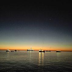 #nofilter #sunrise #offshorelife #laspalmas #grancanaryisland #spain #anchorage #islandoffshore #skyporn by janhelgegrindhaug