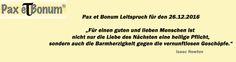 Pax et Bonum Leitspruch für den 26.12.2016