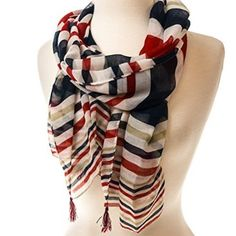 White Stripes Scarf http://shop.crackerbarrel.com/White-Stripes-Scarf/dp/B00VG95SR4