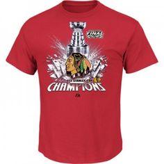 Chicago Blackhawks 2013 Stanley Cup Championship Tee, Hats, Men and Womens.  Sizes 2X, 3X, 4X, 5X, 6X, XLT, 2XT, 3XT, 4XT.