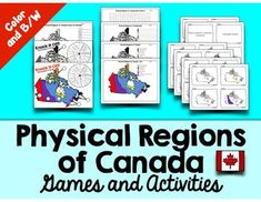 Physical Regions of Canada Games and Activities Social Studies Resources, Teaching Social Studies, Teaching Science, Teaching Tips, Student Learning, Learning Activities, Geography Of Canada, Canadian Social Studies, Study French