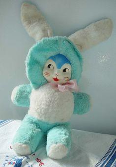 Toy Bunny Blue vintage