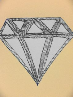 hipster diamond drawing
