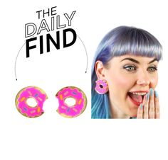 """""""The Daily Find: Vinca Donut Earrings"""" by polyvore-editorial ❤ liked on Polyvore featuring DailyFind"""