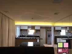 Jantar e cozinha integrados. Projeto Neo Arq SP