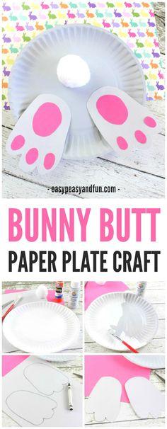 Bunny Butt Paper Plate Craft
