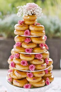 18 Wedding Cake Alternatives To Save Some Cash ❤ See more: http://www.weddingforward.com/wedding-cake-alternatives/ #weddings #cakes