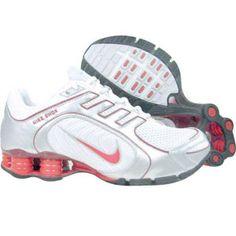 Nike Womens Shox Navina+ (white   atom red   neutral grey   metallic silver) 1d34e9877