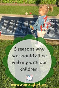 Kids are spending more time indoors and less time outside, so here are 5 reasons why you should be getting your kids walking outdoors (and you, too!) #outdoorsy #walking #health #raisinghealthykids