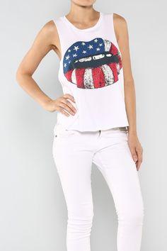 British Lips Top #wholesale #tees #shop #fashion #summer #ootd #wiwt