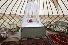 Roundhouse Yurts luxury glamping interior