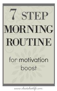 morning routine for motivation
