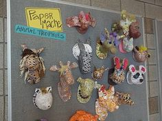 Papier Mache Animal Trophies - So Fun!