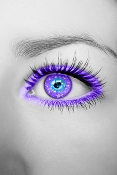 Purple Blue Glittering Eye by Crazy-Kiwii on deviantART. ~SheWolf★