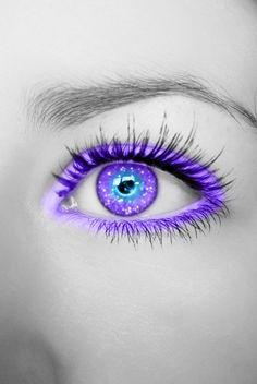 Purple Blue Glittering Eye by Crazy-Kiwii on deviantART