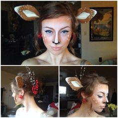 DIY Halloween Makeup Idea for a Fawn Costume