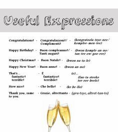Italian Language ~ Useful Expressions - Learn Italian