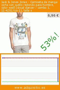 Jack & Jones Jones - Camiseta de manga corta con cuello redondo para hombre, color weiß (cloud dancer / combo 1. 11-4201 tcx-1), talla s (Ropa). Baja 53%! Precio actual 6,96 €, el precio anterior fue de 14,95 €. https://www.adquisitio.es/jack-jones/jones-camiseta-manga-306