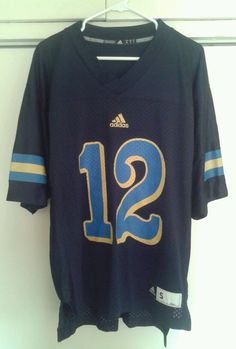 UCLA Bruins Blue Adidas Football Jersey #12 Pac 12 Men's Small NEW #adidas #UCLABruins---SOLD!