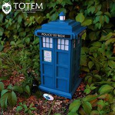 "Купить Светильник-ночник ""Tardis / Тардис"" - тёмно-синий, тардис, доктор кто"