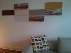 Bauhaus Muster, großes Kissen für Sofa in den Farben der Bilder