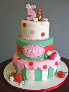 3-tier Strawberry Shortcake